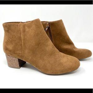 Arizona Jean Round Toe Ankle Fashion Boots Glitter